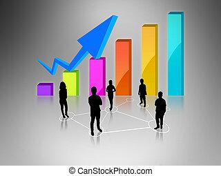 wykres, handlowy zaprzęg