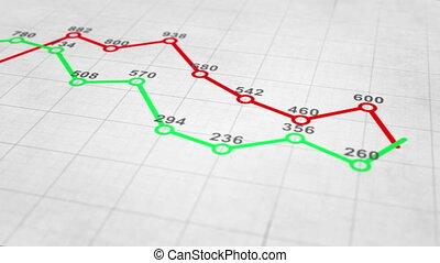 wykres, ożywienie, wykres, pętla, seamless