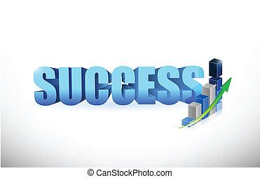 wykres, powodzenie, handlowy, wykres