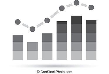 wykres, stats, szary