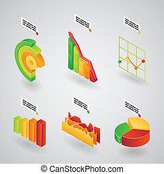 wykresy, analityczny, infographics