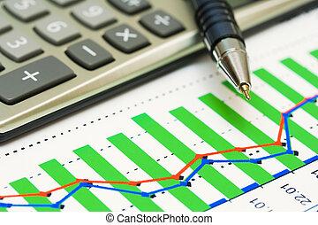 wykresy, analiza rynkowa, pień