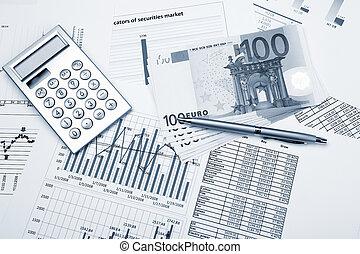wykresy, finansowy, wykresy