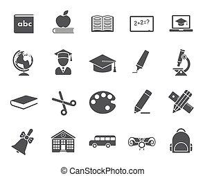 wykształcenie, ikony