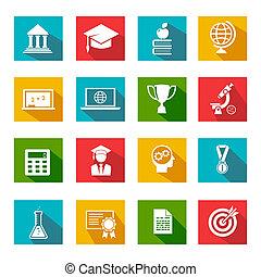 wykształcenie, internetowe ikony
