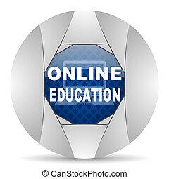 wykształcenie, online, ikona