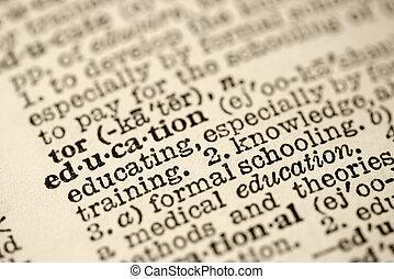 wykształcenie, w, dictionary.