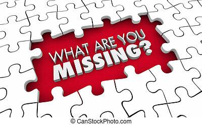 wymagania, lacking, brakujący, zagadka, pytanie, co, ilustracja, ty, 3d