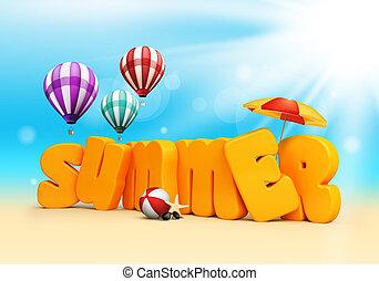 wymiarowy, lato, 3d, teksty