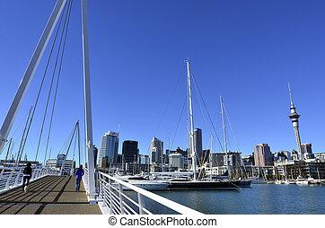 Wynyard Crossing Auckland New Zealand - AUCKLAND - JUNE 01...