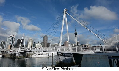 Wynyard Crossing Auckland Viaduct - Wynyard Crossing at...