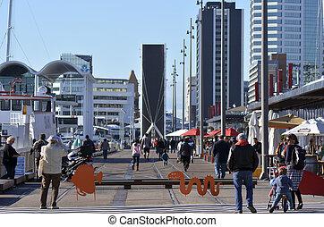 Wynyard Quarter Auckland - New Zealand - AUCKLAND - JUNE 01 ...