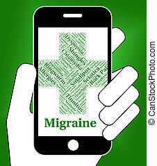 wyobrażenia, migrena, zły, zgryzoty, zdrowie, ból głowy