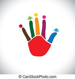 Wyobrażenia, posiadanie, zabawa, rodzina, &, to, concept-,...