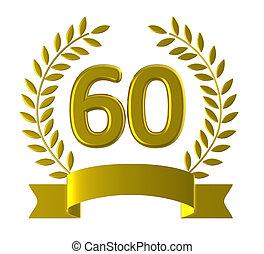 wyobrażenia, rocznica, 60, urodziny, sześćdziesiąt,...