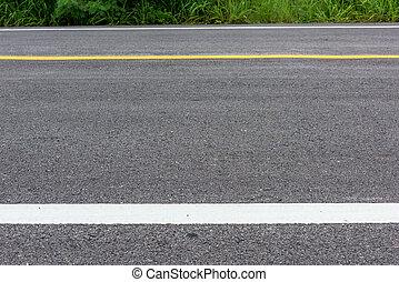 wyodrębnienie, drogowa kwestia, struktura, asfalt