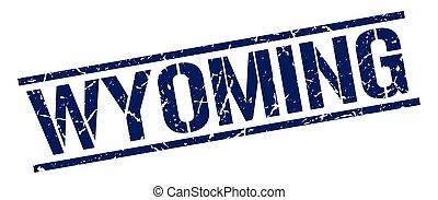 Wyoming blue square stamp