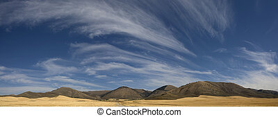 Wyoming landscape - Empty landscape in Wyoming along highway...