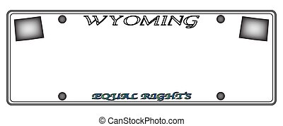 Wyoming License Plate - A Wyoming state license plate design...