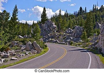 Wyoming Mountain Road