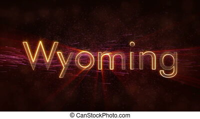Wyoming - Shiny looping state name text animation - Wyoming...