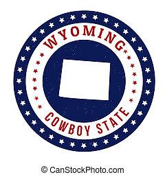 Wyoming stamp