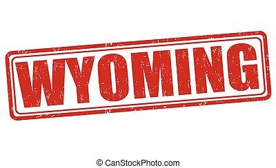 Wyoming stamp - Wyoming grunge rubber stamp on white ...