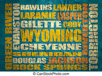 Wyoming state cities list - Image relative to USA travel. ...