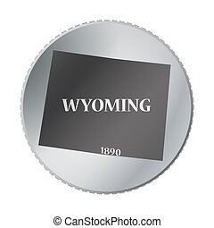 Wyoming State Coin