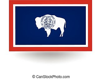 Wyoming State Flag - Official flag of the state of Wyoming.