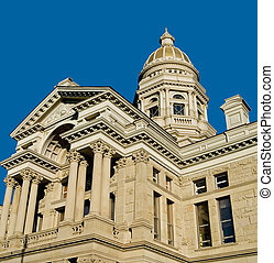 Wyoming State House - Classic architecture of the Wyoming...