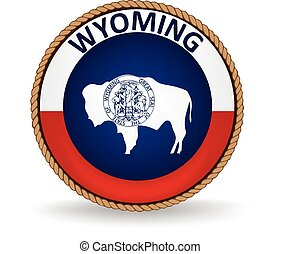 Wyoming State Seal - Seal of the American state of Wyoming.