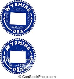 Wyoming USA Stamps