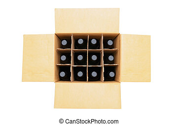 wypadek, butelki, wino
