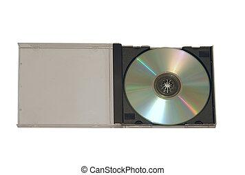 wypadek, cd-rom, odizolowany, plastyk