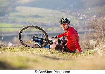 wypadek, rower
