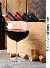 wypadek, szkło, drewno, wino, przód