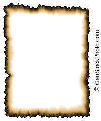 wypalony, papier