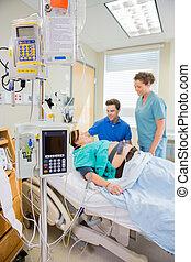wyposażenie, epidural, iv