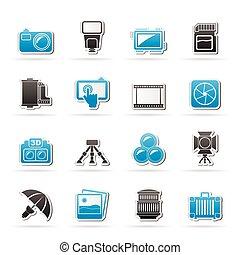 wyposażenie, fotografia, ikony