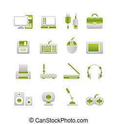 wyposażenie, komputer, peryferie