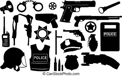 wyposażenie, policja