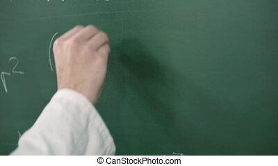 wyrównywanie, matematyczny, pisanie, formułka, blackboard.,...