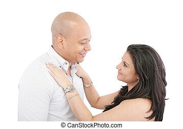 wyrażenie, język, ciało, miłość, oko kontakt, jaźń, romance.