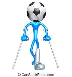 wyrządzony, gracz, soccer piłka nożna