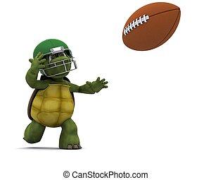 wyrzucanie, amerykańska piłka nożna, żółw