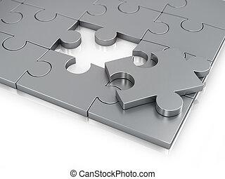 wyrzynarka kawał, puzzle., brakujący