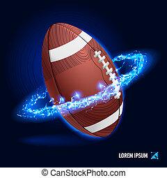 wysoki, amerykańska piłka nożna, napięcie elektryczne