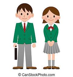 wysoki, japonia, szkoła student