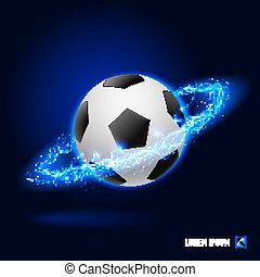wysoki, piłka nożna, napięcie elektryczne